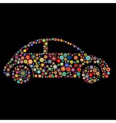 Car shape vector