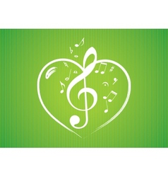 Heart rom musical notes vector