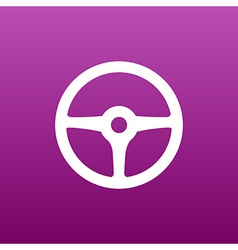Wheel icon steering car circle vehicle vector