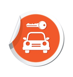 Parking symbol orange tag vector
