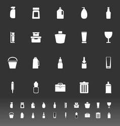 Design package icons on gray background vector