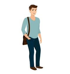 Handsome stylish men casual fashion vector
