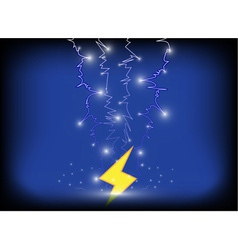 Thunder bolt background eps10 vector
