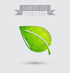 Leaf sign nature icon vector