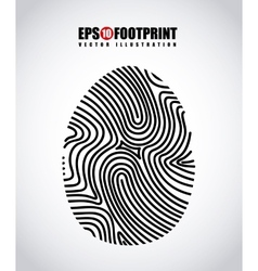 Finger print design vector