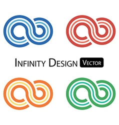 Set of colorful infinity symbol vector