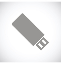 Flash drive black icon vector