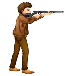 A male hunter vector