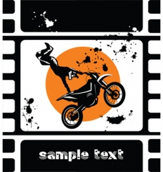 Motocross movie vector