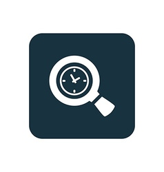 Magnifier time icon rounded squares button vector