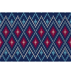 Seamless ornamental male style knitted pattern vector