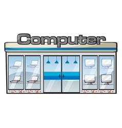 A computer store vector