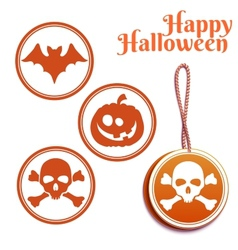 Set of halloween tags vector