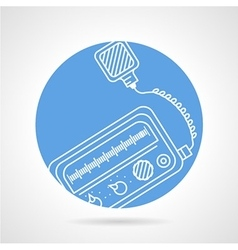 Radio transceiver round icon vector
