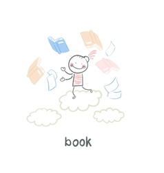 Man and book vector