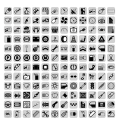 Car part icons vector