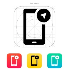 Phone navigator icon vector