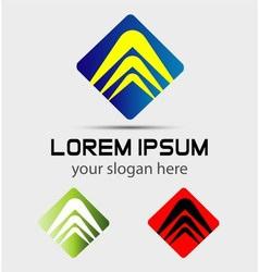 Logo arrows representing profit revenue growth vector