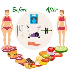Infographic weight loss vector