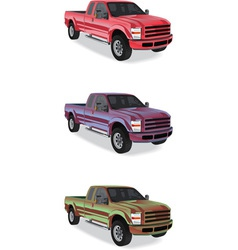 Pick-up trucks vector