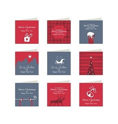 Christmas mini cards vector