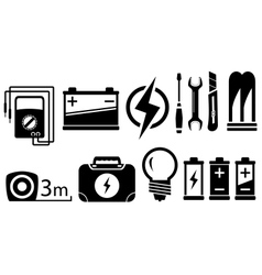Set electrical objects vector