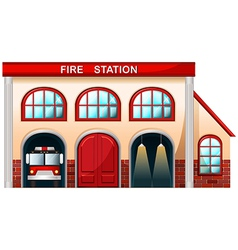 A fire station building vector