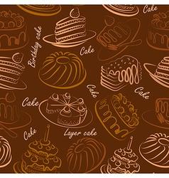 Cakes seamless4 vector