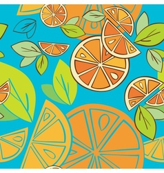 Seamless background citrus mix vector