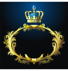 Vignette and crown vector