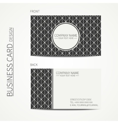 Vintage creative simple monochrome business card vector