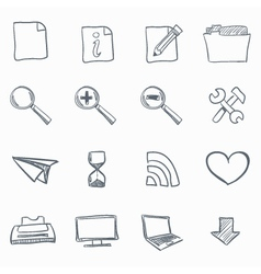 Browser sketch icons vector