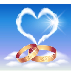 Heart in the clouds vector