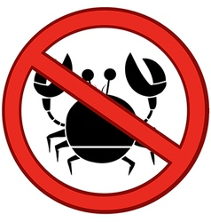 No crabs sign vector