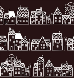 Seamless pattern with houses vector