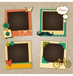 Decorative template frame vector