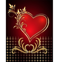 Decorative valentines hearts vector
