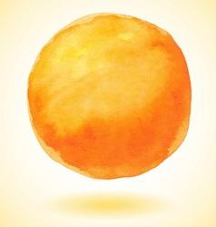 Orange watercolor paint circle vector