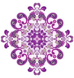 Round floral frame vector