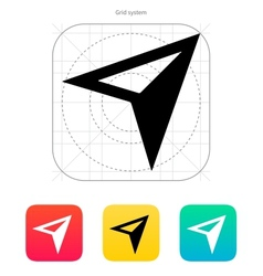 Arrow navigator icon vector