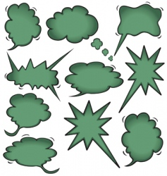 Idea cloud bursts and bubbles vector