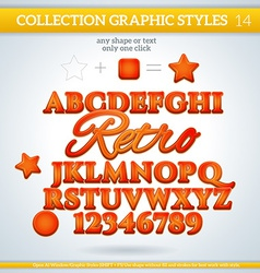 Graphic styles can be use for decor text title vector