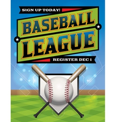 Baseball league flyer vector