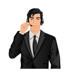 Customer service representative man vector