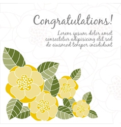 Wedding card with floral elements vector