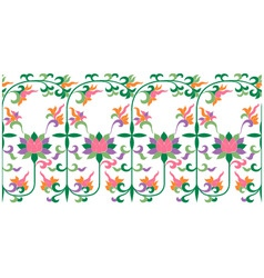 Scroll floral pattern vector
