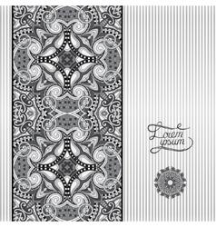 Grey geometric background vintage ornamental vector