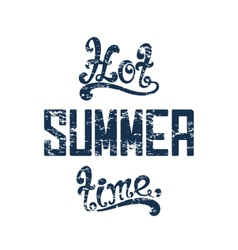 Hot summer time vector