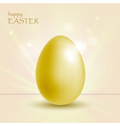 Holiday background with easter gold egg vector