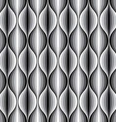 Monochrome geometric wavy lined seamless pattern vector